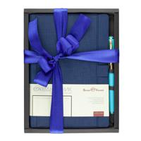 """Набор подарочный """"Marseille"""" (синий ежедневник и ручка)"""