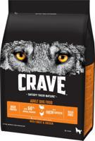 """Сухой беззерновой корм для взрослых собак """"Crave"""", с курицей и индейкой, 2,8 кг"""