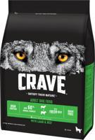 """Сухой беззерновой корм для взрослых собак """"Crave"""", с говядиной и ягненком, 2,8 кг"""