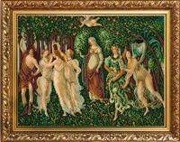 """Рисунок на ткани для вышивания бисером """"Весна (Ботичелли)"""", 29х39 см, арт. 1354"""