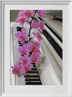 """Рисунок на ткани для вышивания бисером """"Цветочный блюз"""", 29х39 см, арт. 1368"""