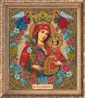 """Набор для вышивания бисером """"Богородица Неувядаемый цвет"""", 27х32,2 см, арт. 507 БИ"""
