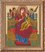 "Набор для вышивания бисером ""Богородица Всецарица"", 27х32,2 см, арт. 506 БИ"