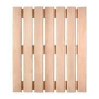 Решетка на пол Банные штучки, для бани и сауны, ольха, 60x70x4 см