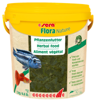 """Корм растительный для декоративных рыб Sera """"Flora Nature"""", хлопья, 10000 мл"""