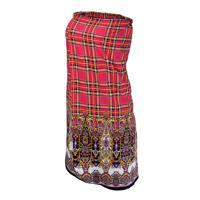 Накидка для женщин Банные штучки, для бани и сауны, 140x80 см, цвет: красный
