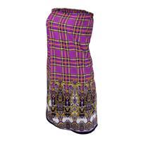 Накидка для женщин Банные штучки, для бани и сауны, 140x80 см, цвет: фиолетовый