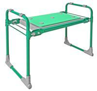 Скамейка садовая Ника СКМ2, с мягким сиденьем, складная (зеленый)