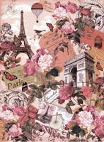 """Бумага рисовая для декупажа """"Париж"""", A3, 5 штук, арт. CP00331"""