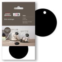 """Бирки меловые """"Avery Zweckform. Living"""", 50 мм, 4 штуки, черные, 1 лист"""