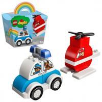"""Конструктор LEGO Duplo """"Пожарный вертолет и полицейский автомобиль"""""""