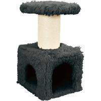 "Домик с когтеточкой для кошки Zolux ""YETI Master"", 50x40x83 см, серый"