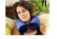 Подушка для путешествий RoadLike Twist Pillow с эффектом памяти, синяя