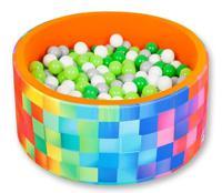 """Сухой игровой бассейн """"Неоновая свежесть"""", высота 40 см, 200 шариков (зеленый, серый, салатовый, белый)"""