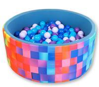"""Сухой игровой бассейн """"Индиго"""", высота 40 см, 200 шариков (синий, голубой, лавандовый, фиолетовый)"""
