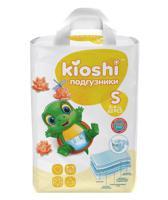 Подгузники KIOSHI, S (3-6 кг), 62 штуки