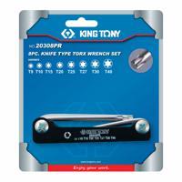 Набор Г-образных ключей TORX King Tony, T9-T40, складные, 8 предметов