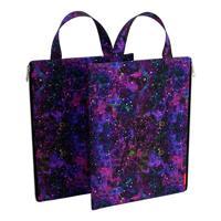 """Папка текстильная с ручкой """"Purple Stardust"""", вертикальная, A4"""