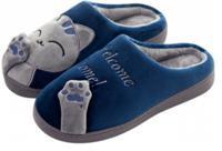 "Тапочки FunFur ""Кот серый"", размер: 42-43, цвет: синий"