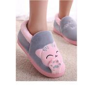 """Тапочки с задником FunFur """"Кот серый"""", размер: 40-41, цвет: розовый"""