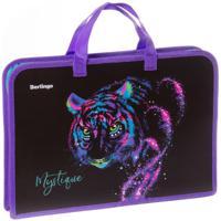 """Папка с ручками """"Neon tiger"""", 1 отделение, 340x245x40 мм"""