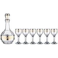 """Набор для спиртных напитков """"Lefard. Полоса версаль"""", 7 предметов, графин + 6 рюмок"""