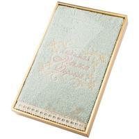 "Полотенце с вышивкой ""Santalino. Любимая мама"", цвет: олива, 70x140 см"