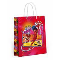 """Пакет подарочный большой """"Леди Баг и Супер-Кот"""", 335x406x155 мм (розовый)"""