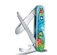 "Нож перочинный ""Victorinox My First Victorinox Dolphin Edition"", 84 мм, 9 функций, арт. 0.2373.E1"
