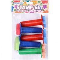 Штампы для детского творчества, 5 штук (арт. DV-T-2304)