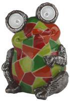 """Садовый светильник на солнечной батарее """"Лягушка с мозаикой"""", 14 см"""
