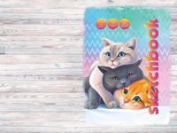"""Скетчбук """"Три кота"""", А6, 64 листа"""