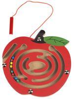 """Деревянная игрушка """"Лабиринт с шариками. Яблоко"""", 15х14,5 см"""