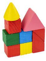 """Деревянная игрушка """"Конструктор. Цветные фигуры"""", 8х12 см, цвет мультиколор"""