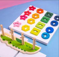 """Деревянная игрушка """"Сортер. Крокодильчик"""", 16 деталей, 30х10х13 см"""