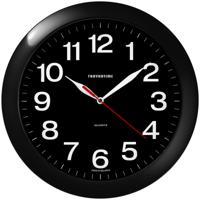 "Часы настенные ""Troyka 11100196"", 29x29x3,5 см, черная рамка"