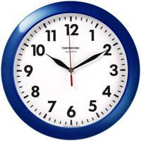 """Часы настенные """"Troyka 11140118"""", 29x29x3,5 см, синия рамка"""