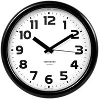 "Часы настенные ""Troyka 21200216"", 24x24x3 см, черная рамка"