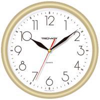"Часы настенные ""Troyka 21271212"", 24x24x3 см, золотистая рамка"