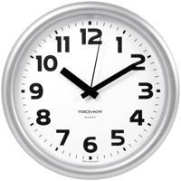 "Часы настенные ""Troyka 21270216"", 24x24x3 см, серебристая рамка"