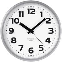 "Часы настенные ""Troyka 91970945"", 23x23x3 см, серебристая рамка"