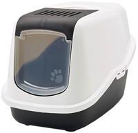 """Туалет для кошек Savic """"Nestor"""", закрытый (цвет: белый/коричневый), 56х39х38,5 см"""