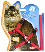 """Шлейка для крупных кошек """"Nobby"""", XL, цвет: красный"""