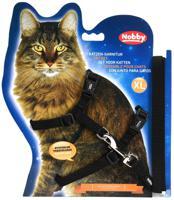 """Шлейка для крупных кошек """"Nobby"""", XL, цвет: черный"""