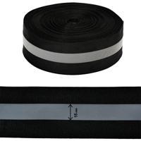 Стропа светоотражающая, цвет: чёрный, 50 мм x 100 м