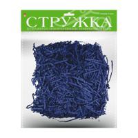 Стружка бумажная декоративная, гофрированная, 3 мм, 50 грамм (синяя)