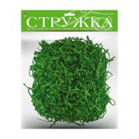 Стружка бумажная декоративная, гофрированная, 3 мм, 50 грамм, зеленая