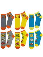 """Комплект носков для мальчика """"Монстрики"""", цвет: серый, голубой, жёлтый, размер: 14-16, 6 пар"""