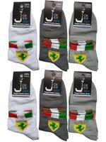 Комплект детских носков для мальчика, цвет: серый, белый, размер: 20-22, 6 пар