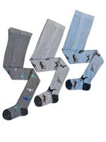 Комплект детских колготок, цвет: серый, голубой, рост: 110-116 см, 3 штуки
